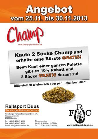 Champ Pferdefutter Sonderangebot